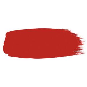 Little Greene verf kwaststreek van kleur Atomic Red (190)