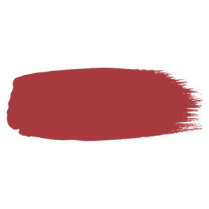 Little Greene verf kwaststreek van kleur Cape Red (279)