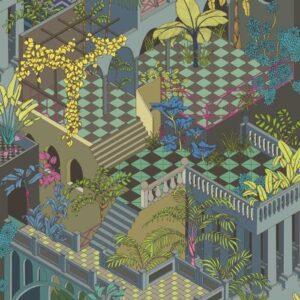 Behang Miami uit de GEOMETRIC II-collectie van Cole & Son
