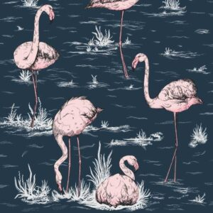 Behang Flamingos uit de ICONS-collectie van Cole & Son