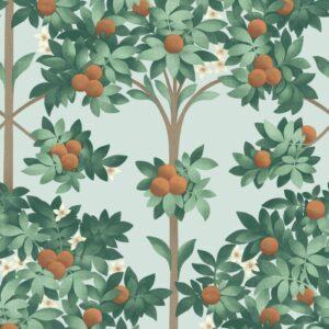 Behang Orange Blossom uit de Seville-collectie van Cole & Son