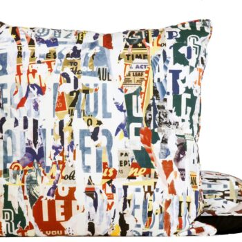kussen Souvenirs Multico uit de VOYAGES VOYAGES-collectie van Jean Paul Gaultier