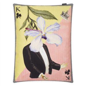 kussen Monsieur Fleur Bleu Nigelle  uit de -collectie van Christian Lacroix