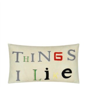 kussen Things I Like Parchment  van John Derian
