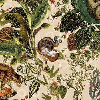 Behang Menagerie of Extinct Animals uit de Moooi Extinct Animals-collectie van Arte