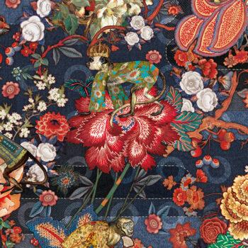 Behang Rendezvous Tokyo Blue uit de Moooi Tokyo Blue-collectie van Arte
