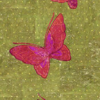 Behang La Chasse aux papillons uit de Soleil Levant-collectie van Élitis