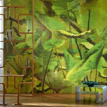 Behang Lost in Plantation uit de Anguille Big Croco Legend-collectie van Élitis