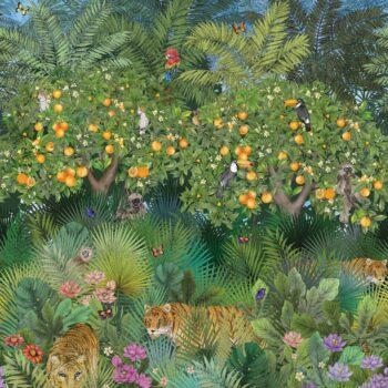 Behang Tiger Groove uit de DAYDREAMS-collectie van Osborne & Little