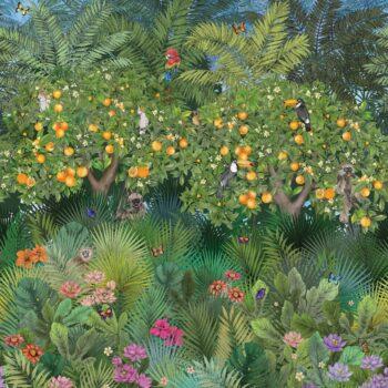 Behang Orange Groove uit de DAYDREAMS-collectie van Osborne & Little