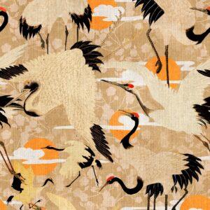Behang Birds of Happiness uit de WORLD OF FABRICS-collectie van Mind The Gap