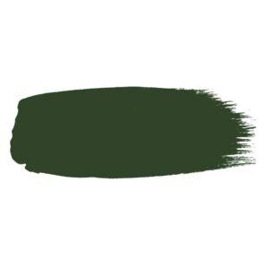 Little Greene verf kwaststreek van kleur Dark Brunswick Green (88)