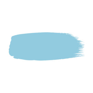 Little Greene verf kwaststreek van kleur Regency Blue (253)