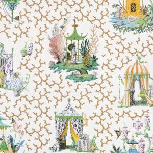 Behang Les Folies uit de Veranda-collectie van Pierre Frey