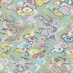 Behang Dragons de Feu uit de Veranda-collectie van Pierre Frey