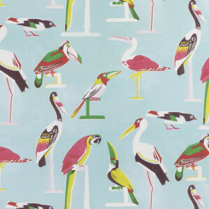 Behang Les Oiseaux Perches uit de Veranda-collectie van Pierre Frey