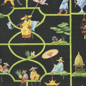 Behang Les Singes Savants uit de Veranda-collectie van Pierre Frey