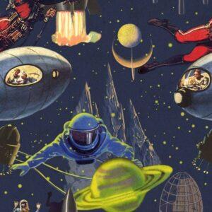 Behang Intergalactic uit de Eclectic-collectie van Mind The Gap