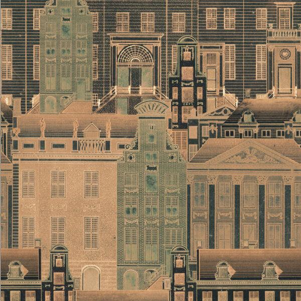 Behang Amsterdam uit de Histoire de l'Architecture-collectie van Mind The Gap