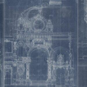 Behang Garnier uit de Histoire de l'Architecture-collectie van Mind The Gap