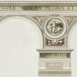 Behang Basilique uit de Histoire de l'Architecture-collectie van Mind The Gap