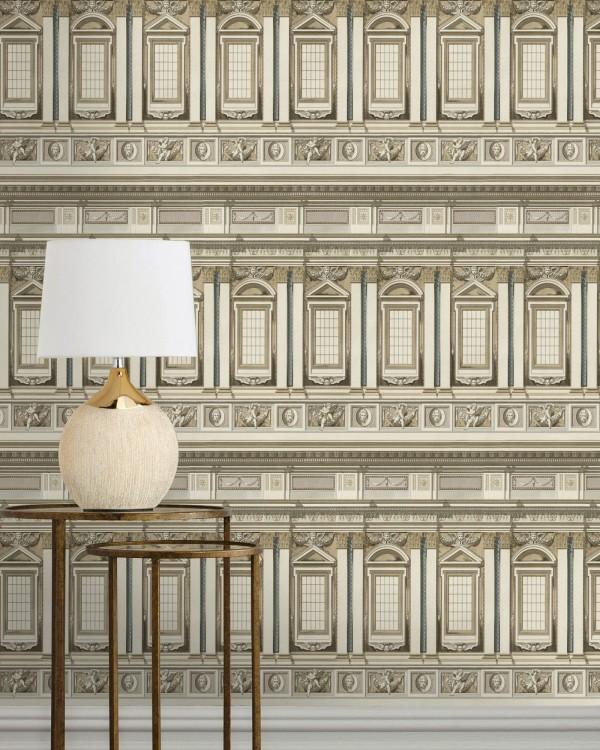 Detail van behang Vaticano uit de Histoire de l'Architecture-collectie van Mind The Gap