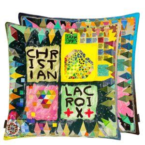 kussen Arlecchino Wood Multicolore van Christian Lacroix