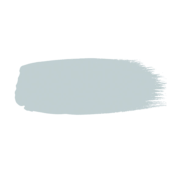 Little Greene verf kwaststreek van kleur Bone China Blue - Faint (325)