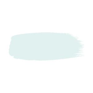 Little Greene verf kwaststreek van kleur Celestial White (262)