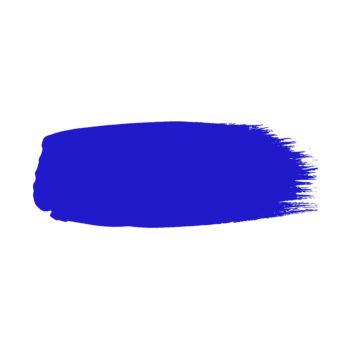Little Greene verf kwaststreek van kleur Ultra Blue (264)