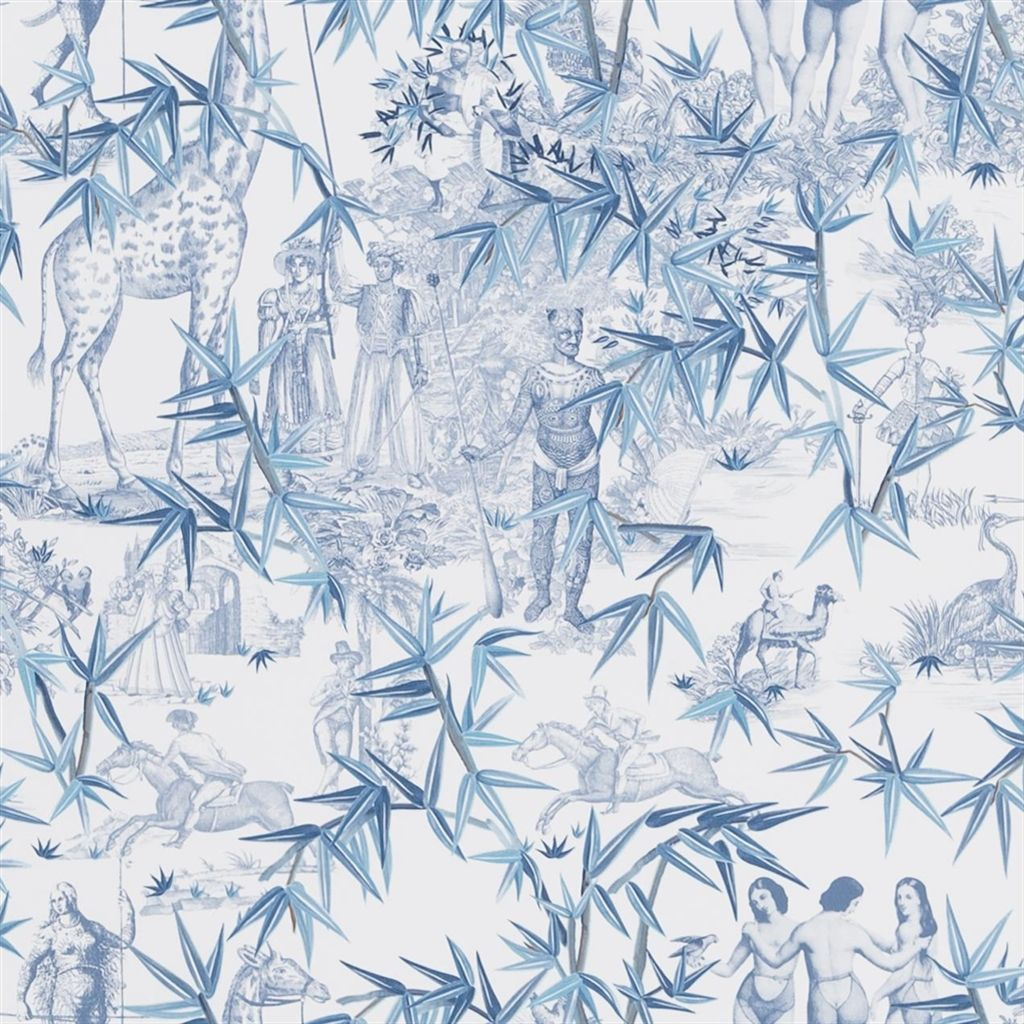Behang Exotisme uit de Au Theatre Ce Soir Wallpaper-collectie van Christian Lacroix