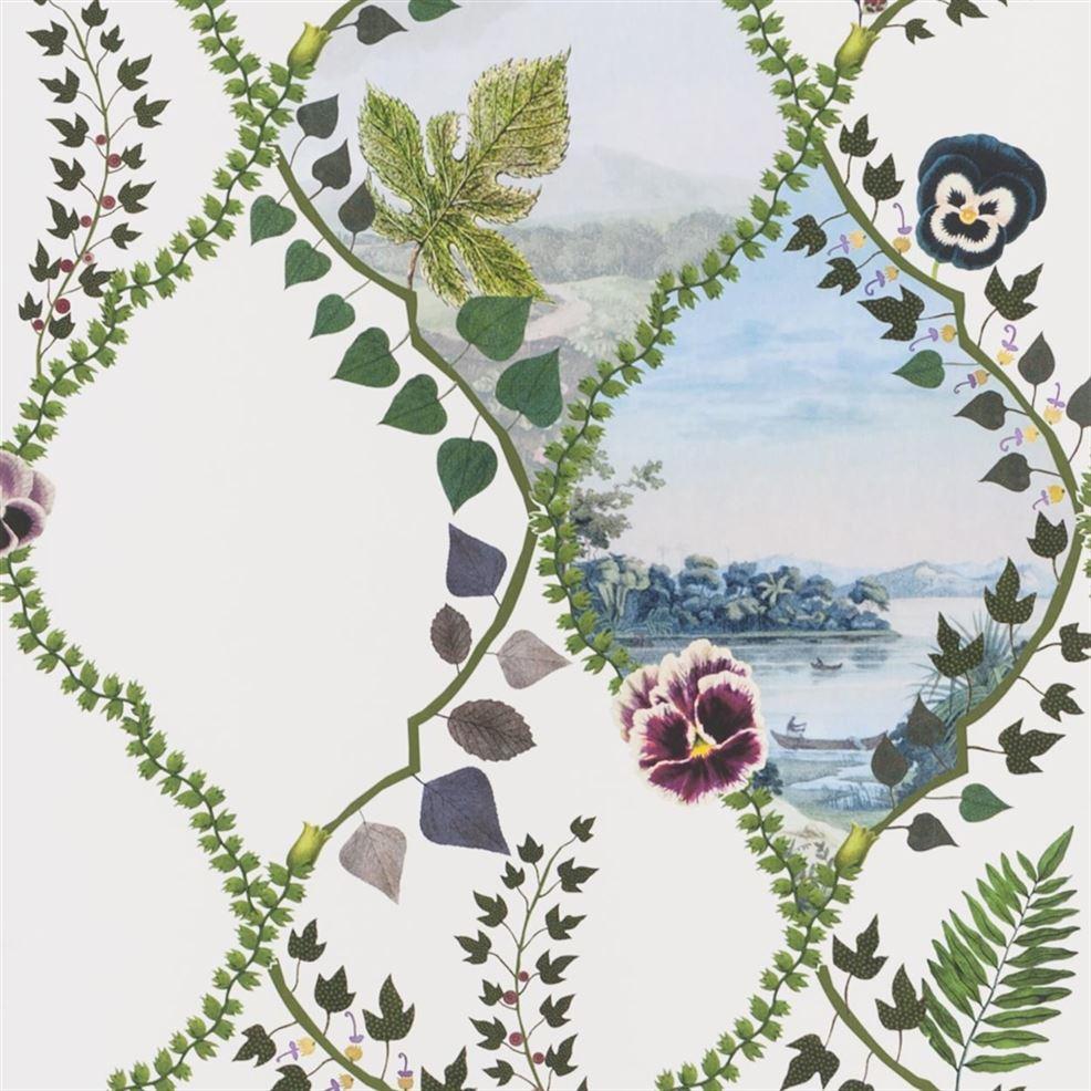 Behang Coup  De Vent uit de Histoires Naturelles Wallpaper-collectie van Christian Lacroix