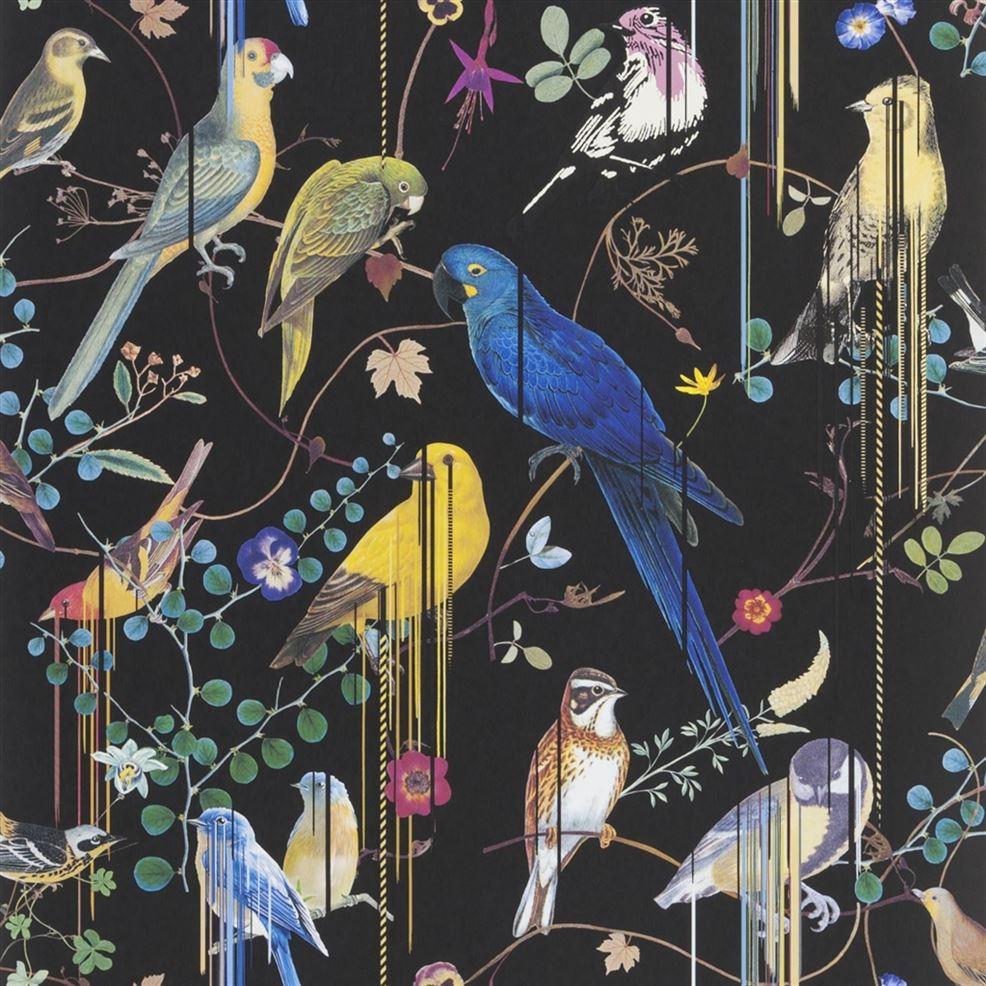 Behang Birds Sinfonia uit de Histoires Naturelles Wallpaper-collectie van Christian Lacroix