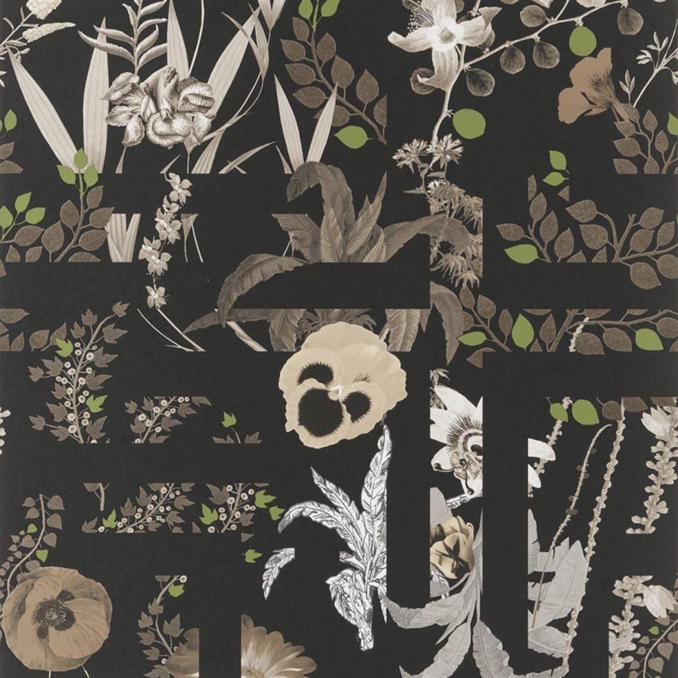 Behang Primavera Labyrinthum uit de Histoires Naturelles Wallpaper-collectie van Christian Lacroix