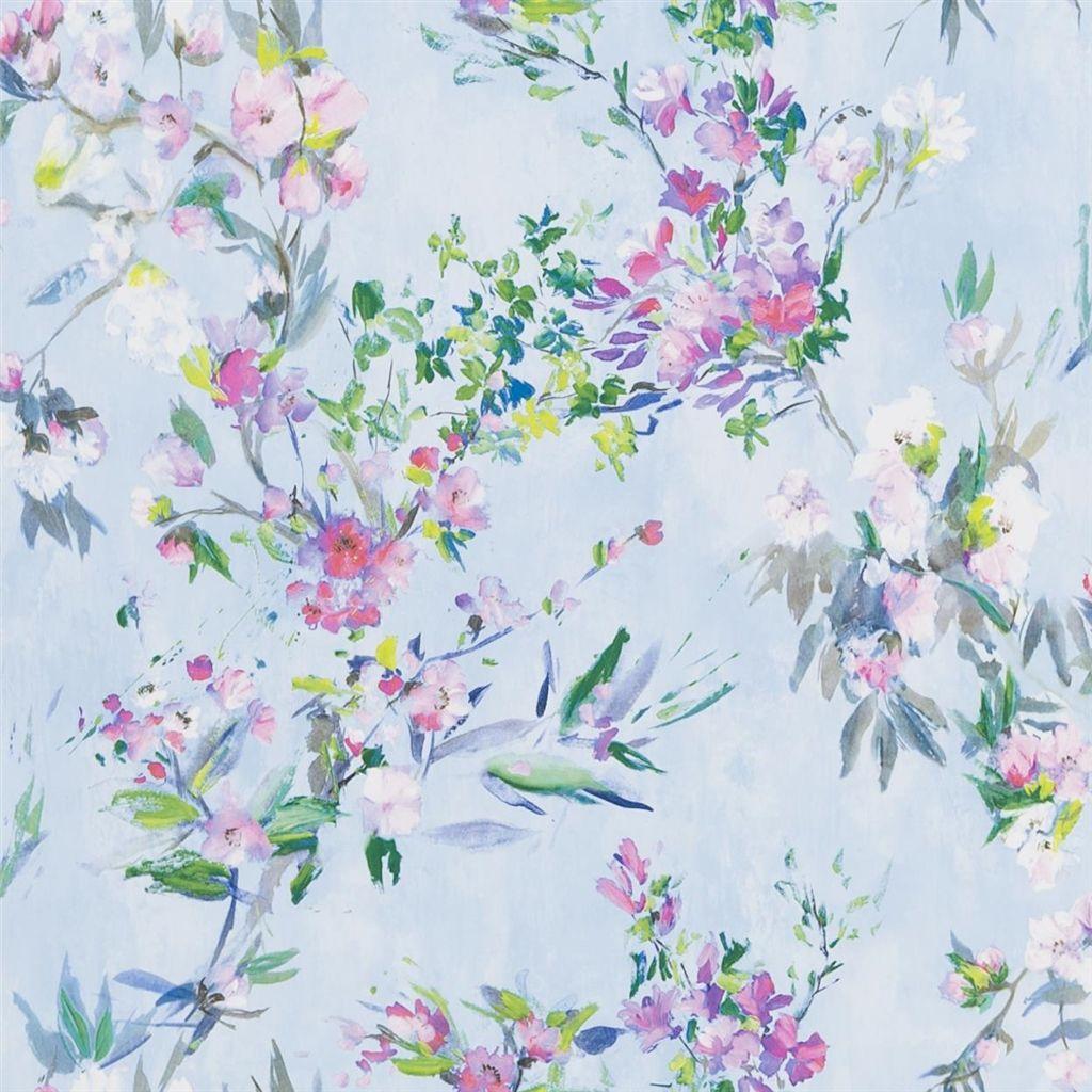 Behang Faience uit de The Edit - Flowers Wallpaper Volume I-collectie van Designers Guild