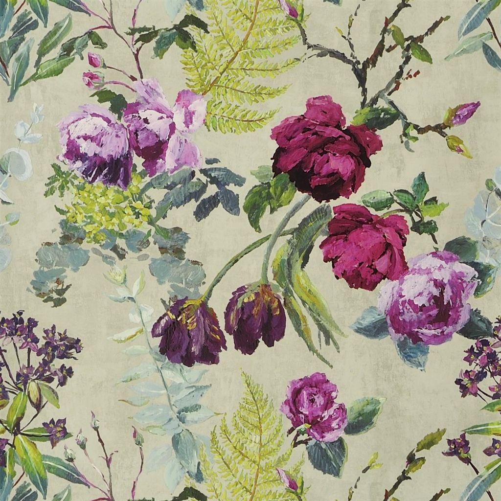 Behang Tulipani uit de The Edit - Flowers Wallpaper Volume I-collectie van Designers Guild